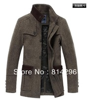 Free shipping  British style perfect version wool tweed coat male coat 419