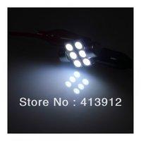Free EMS/DHL shipping 150pcs/lot White Color Festoon car 31mm 6 SMD 5050 LED Light Interior Reading Dome light Bulbs