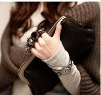 messager shoulder bag  for women skull purse free shipping punk clutch 2013 new women wallet hot!!