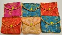 Silk Jewelry Chinese Pouch Bag Roll Assorted ONE DOZEN Zipper