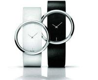 Top Seller Wholesale 3 colors fashion leather watch men women quartz wrist watch