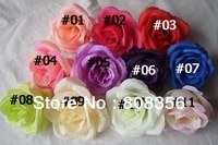 """100p  9.4cm/3.7"""" 11 Colors Highly Artificial Silk Simulation Rose Camellia Rose Flower Heads Wedding Christmas Party Decoration"""