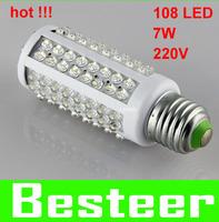 Ultra bright LED bulb 7W,10w,12w,15w E27 220V Cold White light LED lamp with  360 degree Spot light Free shipping