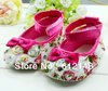 Children's Shoe  Mary Jane Rose Flower Infant Baby Shoes Girls Prewalker Toddler Dress Soft Sole Girls Priness First Walkers