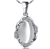 newest luxury 100% genuine 925 sterling silver necklace pendant women wedding jewelry YY5607