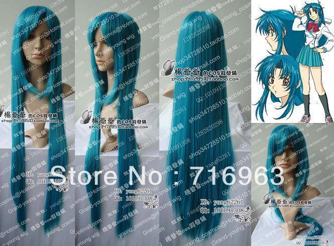Koya fait son cosplay: le making of Free-shipping--LG32-pretty-80cm-blue-green-STRAIGTH-COSPLAY-WIG