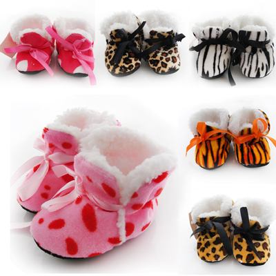 Cute Warm Winter Baby Shoes Antislip Kids Boots Infant Footwear Toddler Thicken Warm Prewalkers Boys/Girsl First Walkers(China (Mainland))