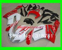 MOTO BODY KIT red white full Fairing for KAWASAKI Ninja ZX-6R 07-08 ZX6R 07 08 ZX6R 636 2007-2008 ZX 6R 07 08 2007 2008