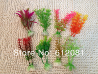 Free shipping  Aquarium fish tank Ornament Plastic Plants Decor 8pcs mixed design/lot
