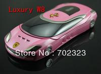 Free Shipping Russian keyboard Flip Quad Band Dual SIM Car Mobile Phone W8 Luxury Phone
