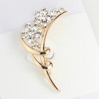 Min.order is $15 (mix order) All-match brooch flower women's sparkling rhinestone brooch accessories