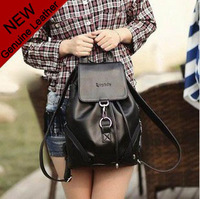 2012 woodpecker genuine leather women's casual backpack / vintage cowhide women travel backpack / free shipping