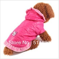 free shipping small dog kitty winter padded coat,teddy,poodle dog cute winter coat S~XXL
