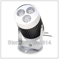 Wholesale - 8pcs/lot 3W 3 LEDs 240-270LM White Light LED Track Light (AC 85-265V 6000-6500K)