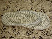 free shipping Women's flip flops sandals handmade knitted tatbeb natural linen tatbeb 9060