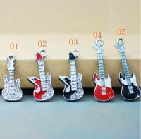 Wholesale GLAZE the guitar pendant Series DIY handmade jewelry accessories 5 pcs/lots