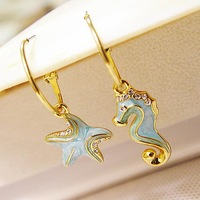 Min order is $10 free shipping (mix order) Viennois  accessories female asymmetrical personality earring earrings