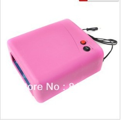 Nail art machine phototherapy a special 36 w 818 phototherapy machine phototherapy light pink pink UV lamp roast lamp(China (Mainland))