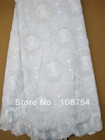 organza lace,wedding lace, Embroidered,sequence lace, net fabric, lace fabric, wholesale and retail, free shipping, J63-5,white
