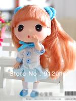 Free Shipping 12cm DDUNG DOLL Lovely Blue Dress Girl Key Chain Pendant Ornament Phone Charm Lovely Gift PlushToys Top Quality