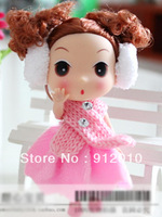 Free Shipping Fashion 12cm DDUNG DOLL Earmuff Girl 5 colors Key Pendant Ornament Phone Charm Great Gift PlushToys Top Quality