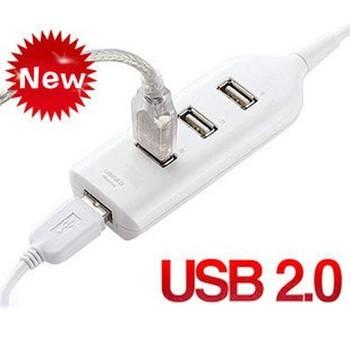 Retail 4 socket usb2.0 hub  four hub splitter  (KH-28)
