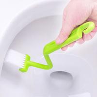3 pcs/pack Bathroom Accessories Toilet Brush Curved Handle Ceramic Toilet Cleaning Brush 2590 (KA-32)
