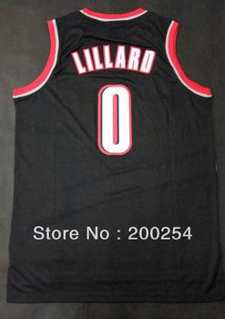 (can mix jersey)!!! Basketball jersey #0 Damian Lillard    black jersey