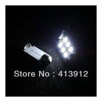 Free Shipping 100pcs/lot 39mm 6 SMD 5050 LED Festoon Reading Light Car Auto Interior Dome License Plate LED Dome light Bulb
