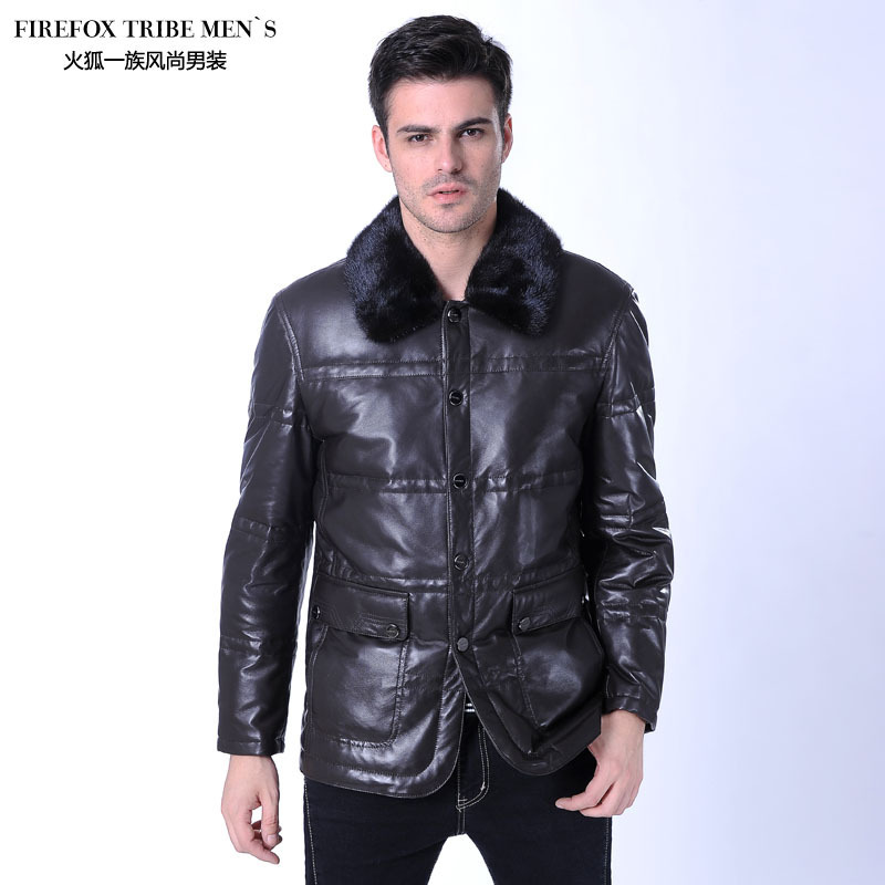 Firefox 2012 autumn new arrival sheepskin genuine leather clothing genuine leather coat mink hair(China (Mainland))