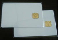 10pcs/lot, white PVC card with SEL 4428 chip contact IC card , contact smart card