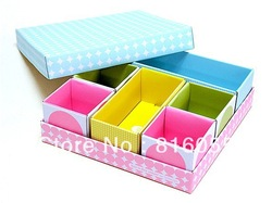 Free Shipping, DIY Colorful Storage Box, Clear-up Box Container, Household Goods, Make Up Box, Easy Collect Cases(China (Mainland))