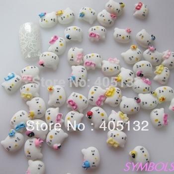 #9 Kitty shape mix bag 200pcs/bag Nail Resin Decoration Nail Art Mix Decoration