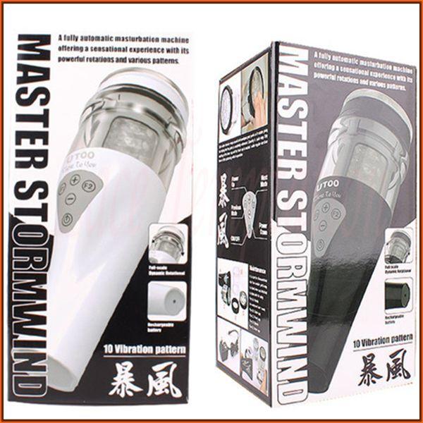 UTOO STORMWIND fully automatic masturbation machine male Masturbators Rotation flashlight sex toys for man(China (Mainland))