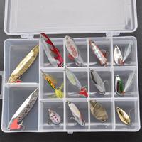 Lure paillette set lure set spoon rotating paillette 15 fishing set
