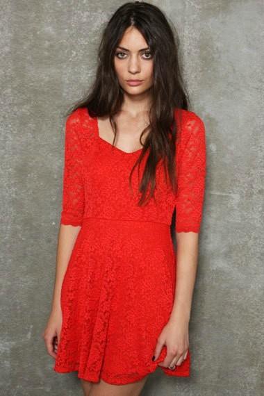 hot sale 2013 new fashion women lace shirt dress slim fit navy blue ...