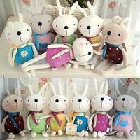 3 pcs/pack Rabbit small mobile phone pendant plush toy rabbit doll small gift 12cm
