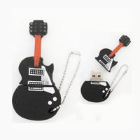 Freeshipping 50pcs/lot 32GB Black Guitar USB2.0 Flash Memory Stick Pen Drive