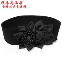 All-match flower cummerbund fashion decoration pearl belt female personality cronyism chiffon belt