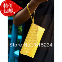 Freeshipping new fashion embossed women's handbag day clutch coin purse card holder candy color small bags