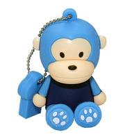 Freeshipping 50pcs/lot 64GB Blue Monkey USB2.0 Flash Memory Stick Pen Drive