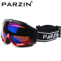 Parson polarized skiing mirror double layer spherical anti-fog mirror ski eyewear goggles