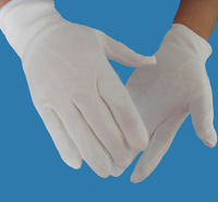free shipping 20pairs  white  100% cotton safety gloves