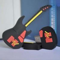 Freeshipping  64GB Black Guitar MTV USB2.0 Flash Memory Stick Pen Drive