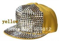 Free Shipping Adjustable paste box hip-hop cap, Bboy flat brimmed hat, Sports caps, Snapback hats, 6 color 20pcs/lot