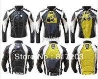Wholesale - free shipping 2011 waterproof Oxford fabric / PU Racing Jacket motorcycle Jacket black/white