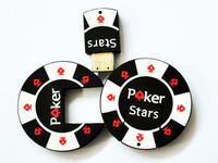 Freeshipping 16GB Poker Stars USB2.0 Flash Memory Stick Pen Drive