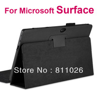 Pu leather case File Smart  cover with standFor Microsoft Surface,1pcs/lot free shipping