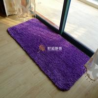 Thick ultrafine fiber mats doormat carpet 55 120cm purple