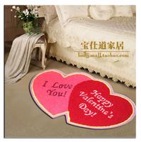 Handmade embroidery love rustic floor mats doormat 50 80 tb010